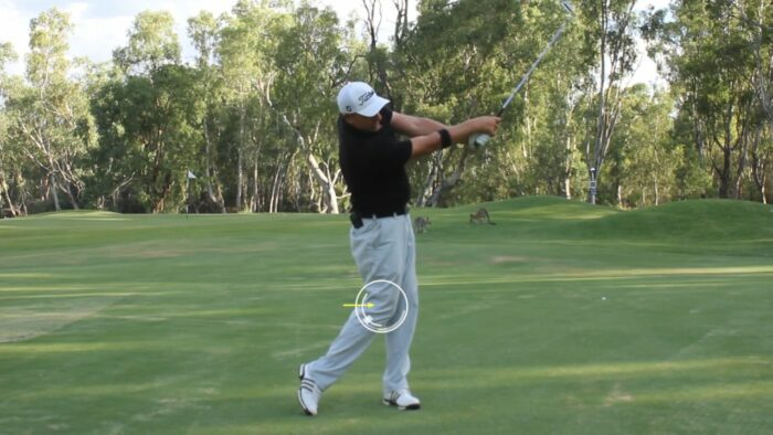 Reaching out Through the Ball in Combination with Great Knee Work