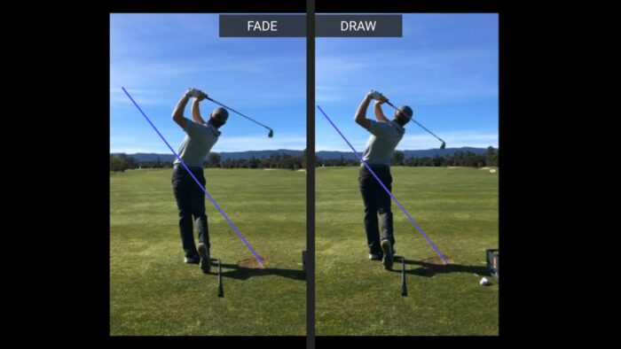Fade VS Draw a look in slow motion and the different swings
