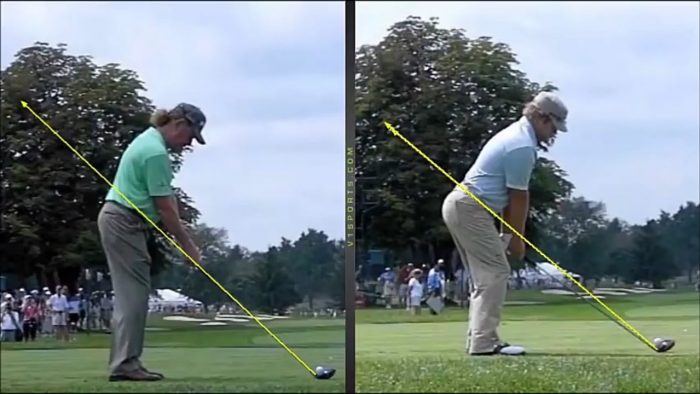 Miguel Jimenez & Ryan Moore Golf Swing Comparison