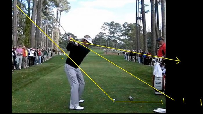 Swing Geometry Driver from the back view