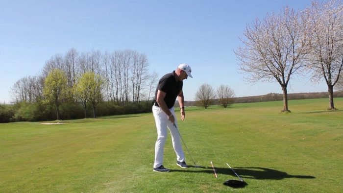 Build the backswing! Halfway back!