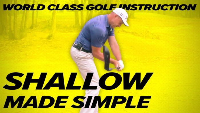 The Easiest Way to Shallow out Golf Swing