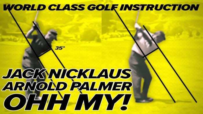 Jack Nicklaus Golf Swing & Arnold Palmer vs Average Golfer