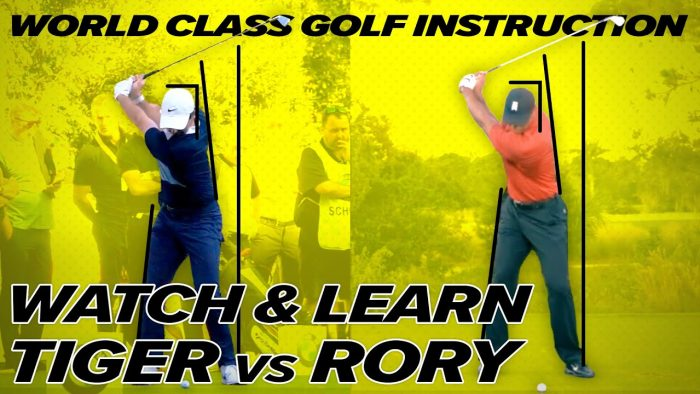 Golf Swing Rory Mcllroy vs Tiger Woods Golf Swing – Identical Swing Geometry!