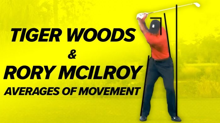 Tiger Woods & Rory Mcllroy Golf Swings! Averages of Movement!