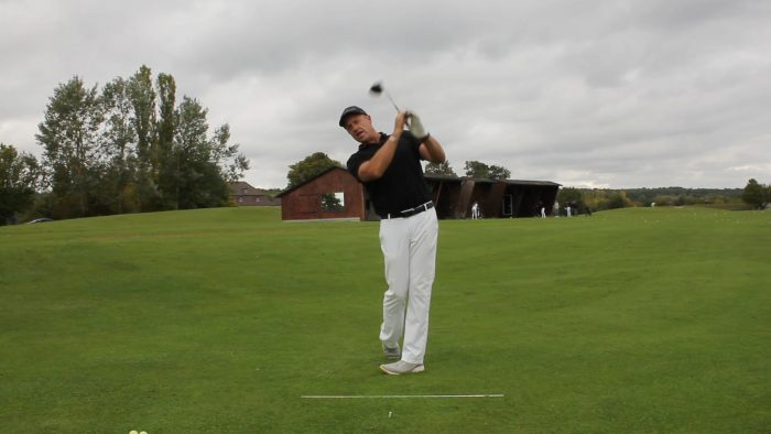 The Correct Finish Helps to Slot and Shallow the Golf Club to Hit Slightly From the Inside!