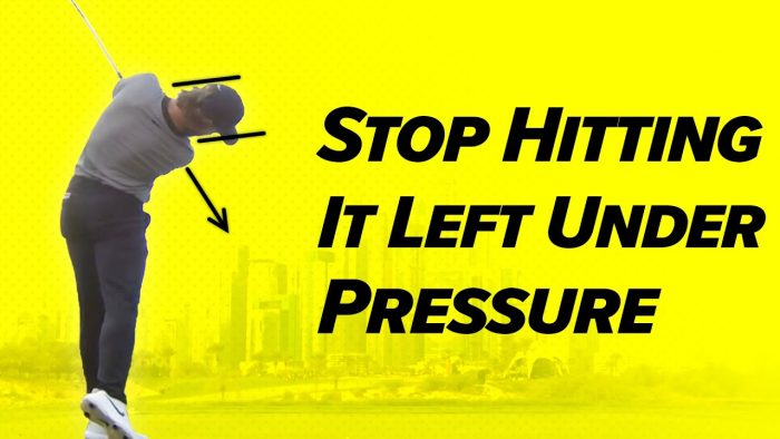 Golf Technique – Stop Hitting Left Under Pressure! – Craig Hanson Golf