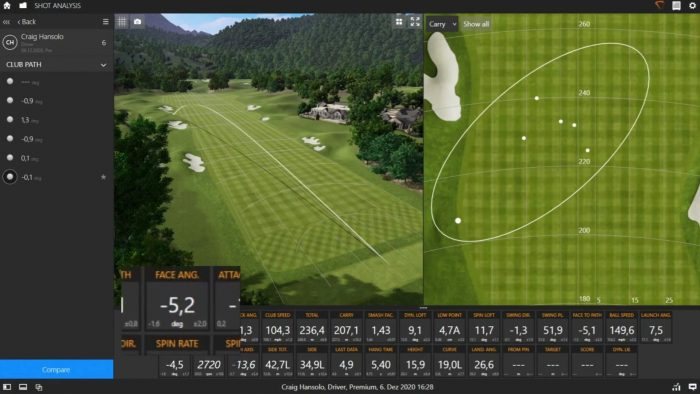 The Dead Straight Shot on Trackman!